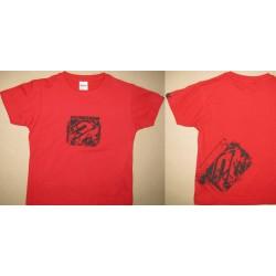SHOT SYMBOL detské tričko červené