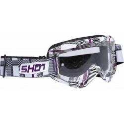 SHOT TECH FASHION biele MX okuliare