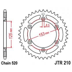 TITAX210.48/49 zubová ULTRA LITE TITAX Rozeta 520 reťaz