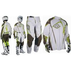 SHOT WHIP bielo-žltý NEON krikľavý MX komplet (dres + nohavice)