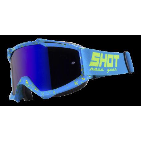 SHOT IRIS SCRATCH modro / NEON žlté MX okuliare