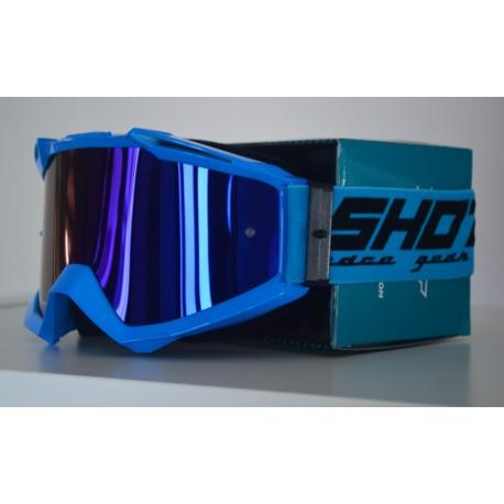 SHOT ASSAULT modré, zrkadlové modré MX okuliare