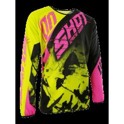 SHOT SQUAD MX dres ružovo/žltý neon
