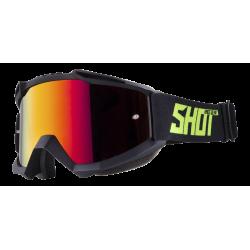 SHOT IRIS čierne/žlté matné MX okuliare