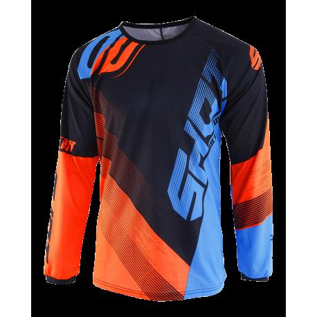 SHOT ULTIMATE MX dres modro/oranžový neon