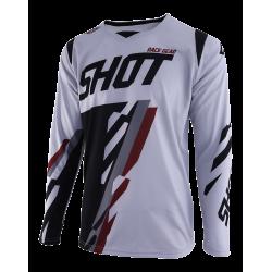 SHOT SCORE MX dres šedo/burgundy