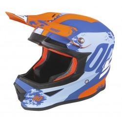 SHOT SHADOW modro/oranžová matná MX prilba