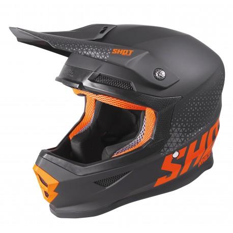 SHOT RAW čierno/oranžová matná MX prilba