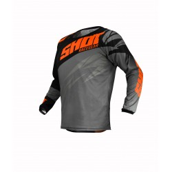 SHOT VENTURY MX dres šedo/oranžový neon