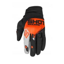 SHOT TRUST MX rukavice šedo / oranžové neon