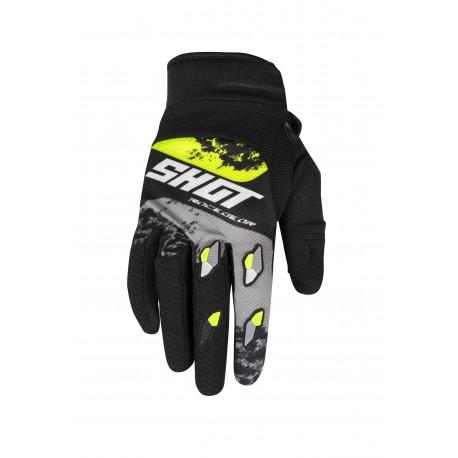 SHOT SHADOW MX rukavice šedo / žlté neon