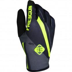 FREEGUN MX rukavice šedo / žlté neon