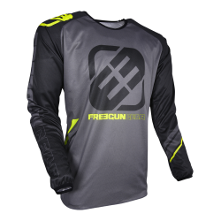 SHOT VENTURY MX dres šedo / žltý neon