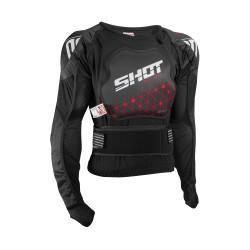 SHOT AIRLIGHT čierno / šedý hrudný a chrbticový homologovaný chránič tela