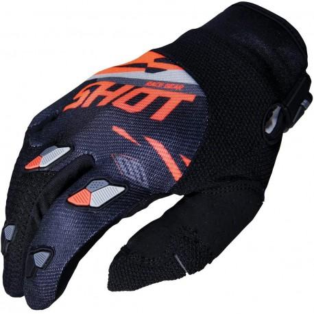 SHOT SCORE MX rukavice čierno / oranžové neon