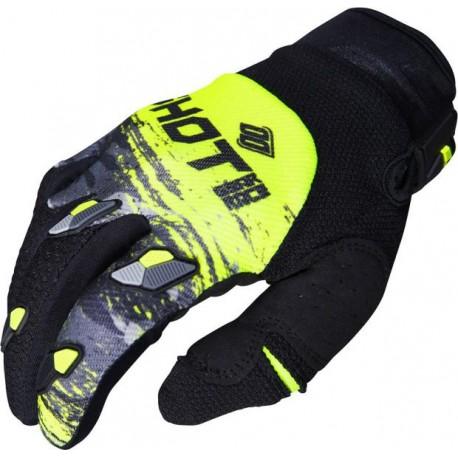SHOT COUNTER MX rukavice šedo žlté neon