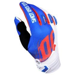 SHOT VENOM MX rukavice detské modro/bielo oranžové neon