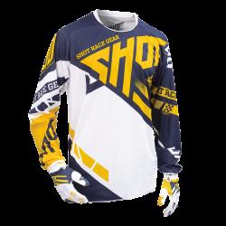 SHOT RACEWAY MX dres modro/žltý