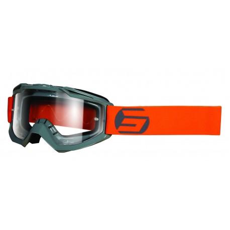 SHOT ASSAULT SYMBOL šedo / NEON oranžové matné MX okuliare