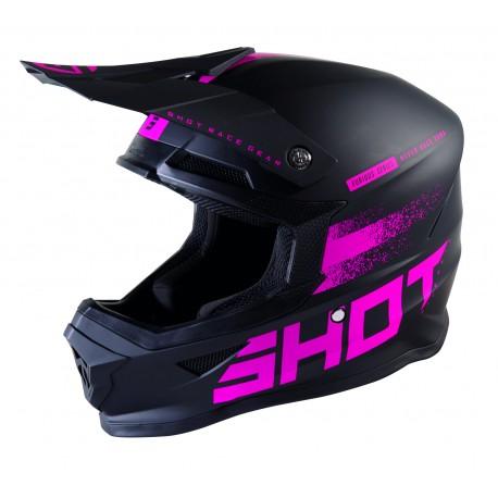 SHOT RAW 2.0 fushia ružová matná MX prilba