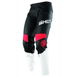SHOT SLAM MX nohavice červené