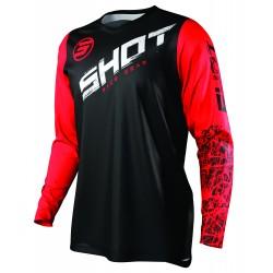 SHOT SLAM MX dres červený