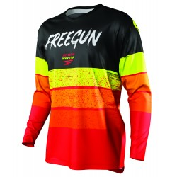 FREEGUN STRIPE MX dres červeno/žltý neon