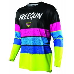 FREEGUN STRIPE MX dres neon žlto/modro/ružový