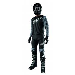 SHOT SLAM čierny MX komplet dres + nohavice