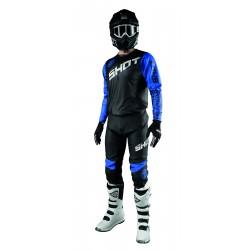 SHOT SLAM modrý MX komplet dres + nohavice