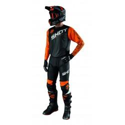 SHOT SLAM oranžový MX komplet dres + nohavice