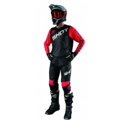 SHOT SLAM červený MX komplet dres + nohavice