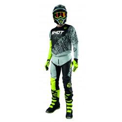 SHOT STORM žltý MX komplet dres + nohavice