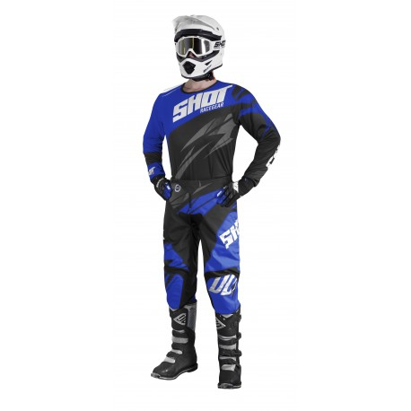 SHOT DEVO modrý MX komplet - dres + nohavice + rukavice 2017