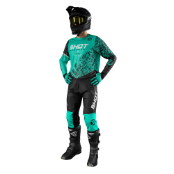 SHOT STORM zelený MX komplet dres + nohavice