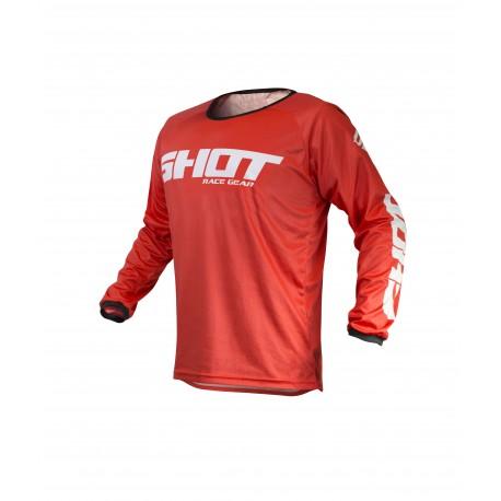 SHOT RAW MX dres červený