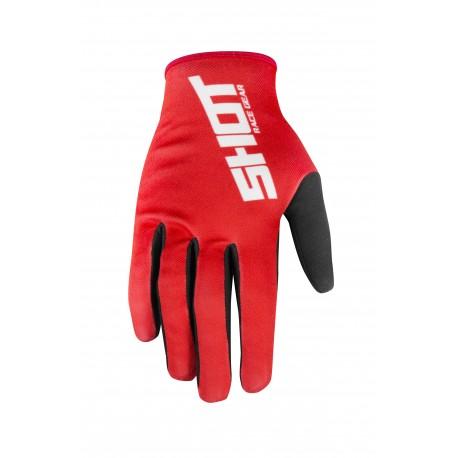SHOT ALERT MX rukavice červené
