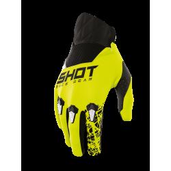 SHOT STORM MX detské rukavice šedo / žlté neon