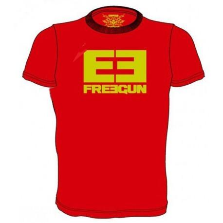 FREEGUN LOGO tričko červené