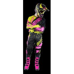 SHOT DEVO PINK NEON MX komplet - dres + nohavice + rukavice 2017
