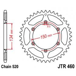 TITAX460.49/50/51 zubová ALUMINIUM7075 T-6 TITAX Rozeta 520 reťaz