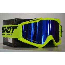 SHOT ASSAULT NEON žlté, zrkadlové modré MX okuliare
