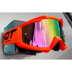 SHOT ASSAULT NEON oranžové, zrkadlové MX okuliare