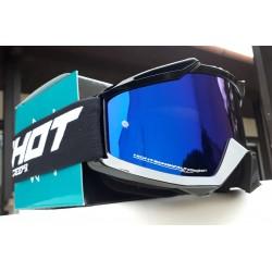 SHOT ASSAULT čierne, zrkadlové modré MX okuliare