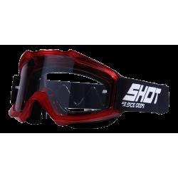 SHOT ASSAULT TRANSPARENT červené MX okuliare