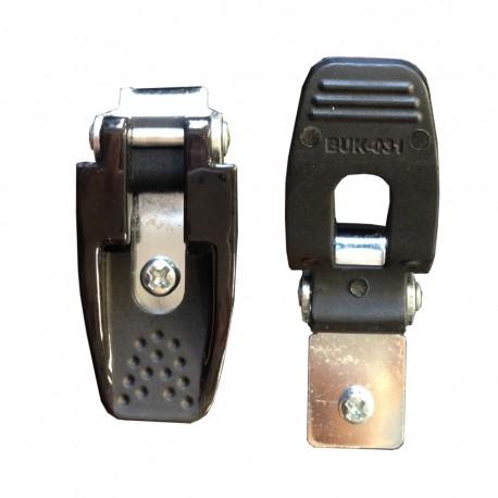 SHOT X11/X12/K11/K12 čierna plastová klipsňa