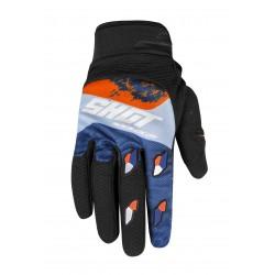 SHOT RAID MX rukavice modro-žlté NEON