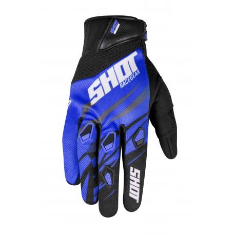 SHOT SQUAD MX rukavice modré 2017