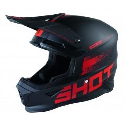 SHOT RAW 2.0 čierno/červená matná MX prilba