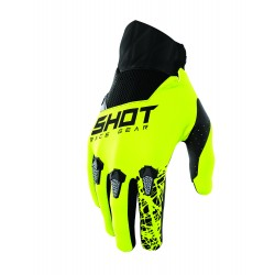 SHOT STORM MX rukavice šedo / žlté neon